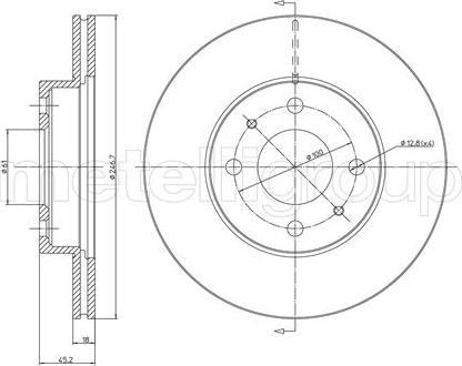 Metelli 23-0456 - Bremžu diski interparts.lv