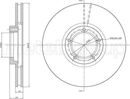 Metelli 23-0458 - Bremžu diski interparts.lv