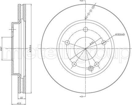Metelli 23-0469C - Bremžu diski interparts.lv
