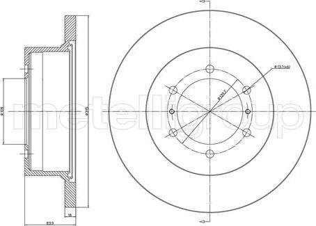 Metelli 23-0464 - Bremžu diski interparts.lv