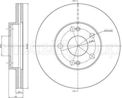 Metelli 23-0466 - Bremžu diski interparts.lv