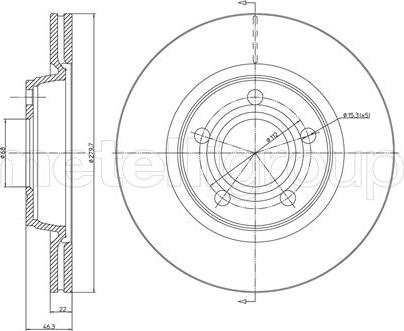 Metelli 23-0468C - Bremžu diski interparts.lv