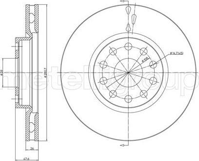 Metelli 23-0409C - Bremžu diski interparts.lv