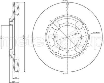 Metelli 23-0405 - Bremžu diski interparts.lv