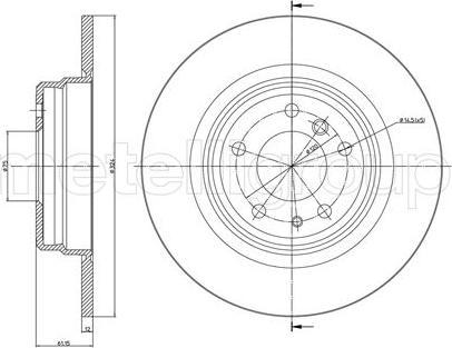 Metelli 23-0400 - Bremžu diski interparts.lv