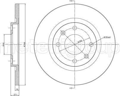 Metelli 23-0401C - Bremžu diski interparts.lv