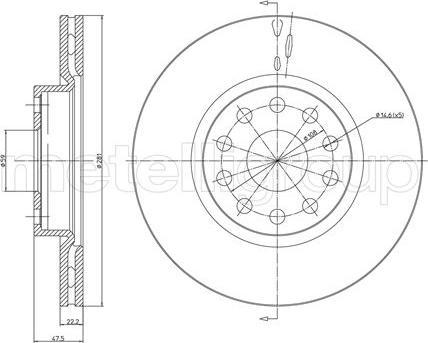 Metelli 23-0408 - Bremžu diski interparts.lv