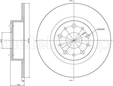 Metelli 23-0410C - Bremžu diski interparts.lv