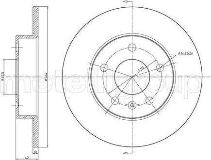Metelli 23-0489C - Bremžu diski interparts.lv