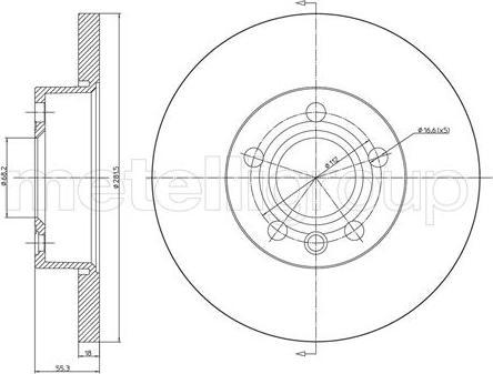 Metelli 23-0484 - Bremžu diski interparts.lv