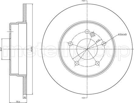 Metelli 23-0485C - Bremžu diski interparts.lv