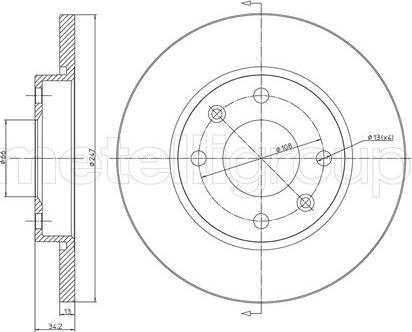 Metelli 23-0486C - Bremžu diski interparts.lv