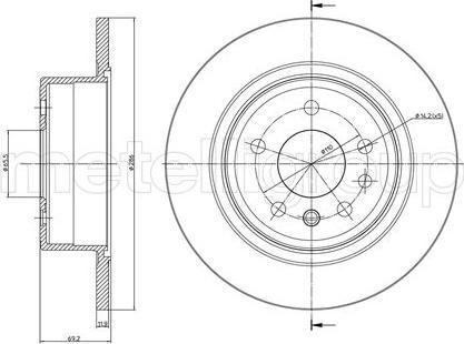 Metelli 23-0480 - Bremžu diski interparts.lv