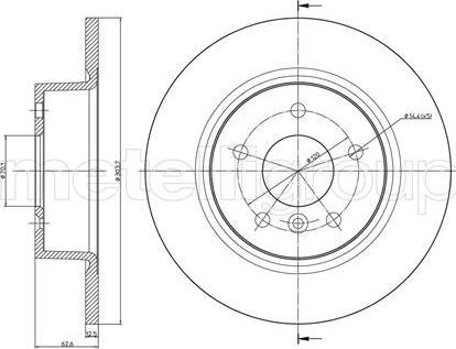 Metelli 23-0483C - Bremžu diski interparts.lv