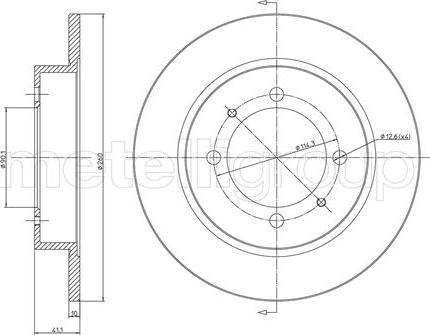 Metelli 23-0434C - Bremžu diski interparts.lv