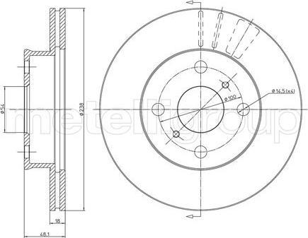 Metelli 23-0435 - Bremžu diski interparts.lv