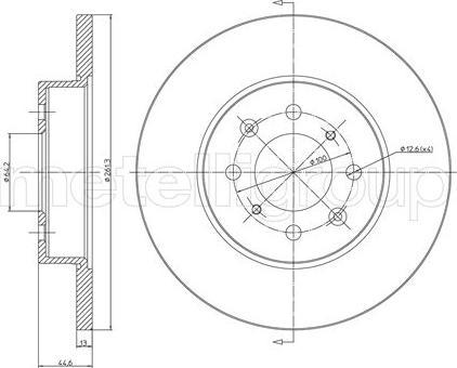 Metelli 23-0430 - Bremžu diski interparts.lv