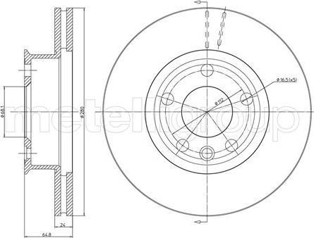 Metelli 23-0437 - Bremžu diski interparts.lv