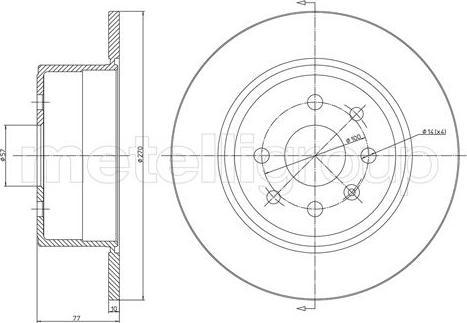 Metelli 23-0426 - Bremžu diski interparts.lv