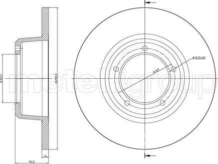 Metelli 23-0422 - Bremžu diski interparts.lv