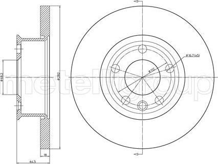 Metelli 23-0427 - Bremžu diski interparts.lv