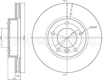 Metelli 23-0474C - Bremžu diski interparts.lv