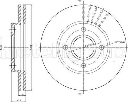 Metelli 23-0476C - Bremžu diski interparts.lv