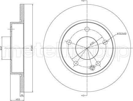 Metelli 23-0470C - Bremžu diski interparts.lv