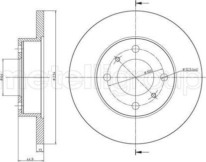 Metelli 23-0478 - Bremžu diski interparts.lv