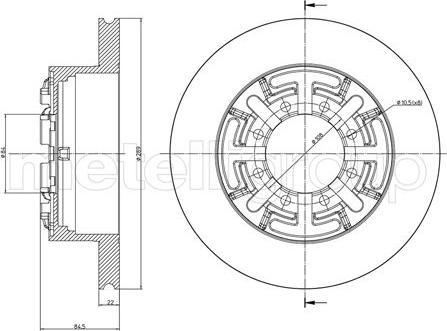 Metelli 23-0477 - Bremžu diski interparts.lv