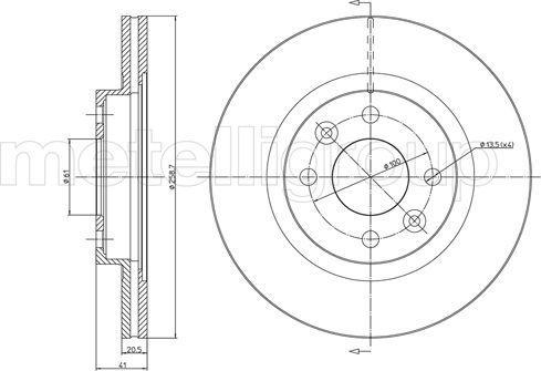 Metelli 23-0549C - Bremžu diski interparts.lv