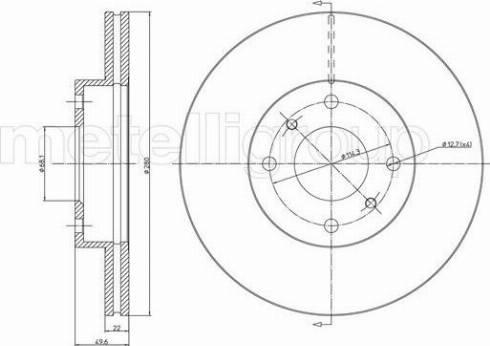 Metelli 23-0545 - Bremžu diski interparts.lv