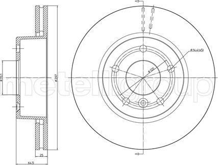 Metelli 23-0543 - Bremžu diski interparts.lv