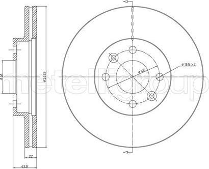 Metelli 23-0550C - Bremžu diski interparts.lv