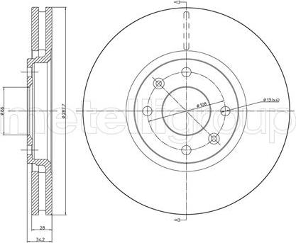 Metelli 23-0557C - Bremžu diski interparts.lv