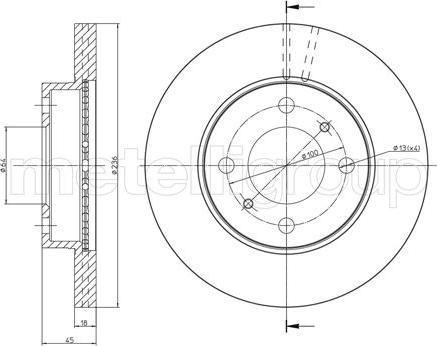 Metelli 23-0505C - Bremžu diski interparts.lv