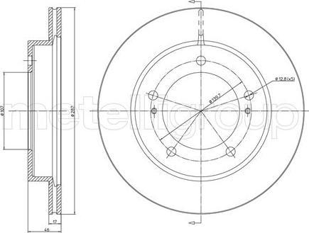 Metelli 23-0501 - Bremžu diski interparts.lv
