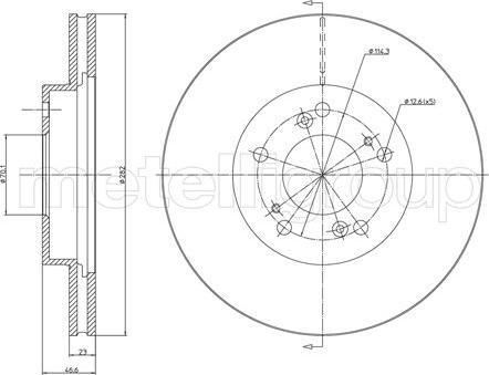 Metelli 23-0503C - Bremžu diski interparts.lv