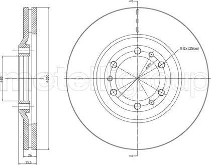Metelli 23-0502 - Bremžu diski interparts.lv