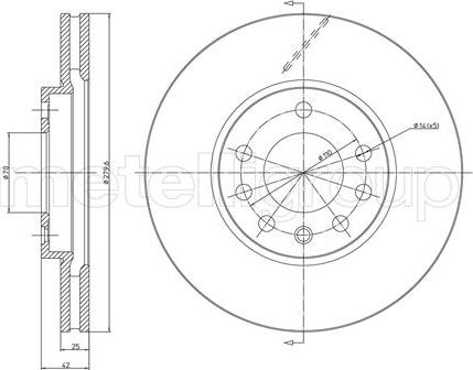 Metelli 23-0514C - Bremžu diski interparts.lv