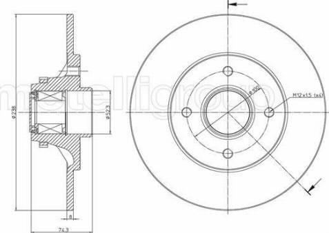 Metelli 23-0516 - Bremžu diski interparts.lv