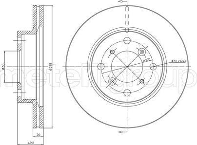 Metelli 23-0510 - Bremžu diski interparts.lv