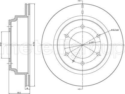 Metelli 23-0511 - Bremžu diski interparts.lv