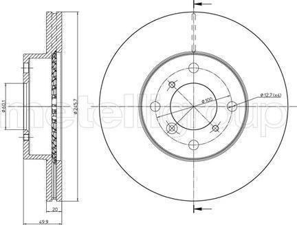 Metelli 23-0588C - Bremžu diski interparts.lv