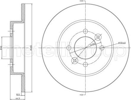 Metelli 23-0534 - Bremžu diski interparts.lv