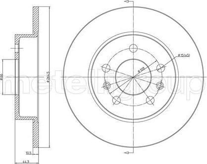 Metelli 23-0535 - Bremžu diski interparts.lv