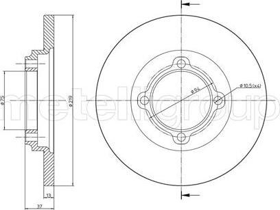 Metelli 23-0536 - Bremžu diski interparts.lv