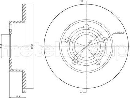 Metelli 23-0531C - Bremžu diski interparts.lv