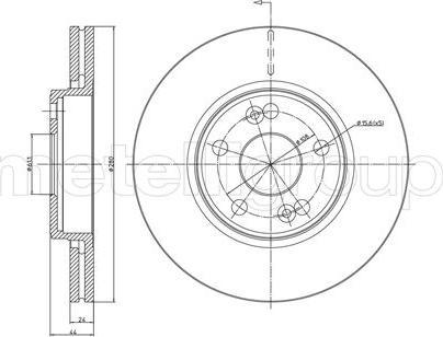 Metelli 23-0533 - Bremžu diski interparts.lv