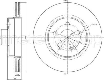 Metelli 23-0521 - Bremžu diski interparts.lv